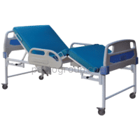 Medical stationary functional bed KF-4P1 with two hand drive