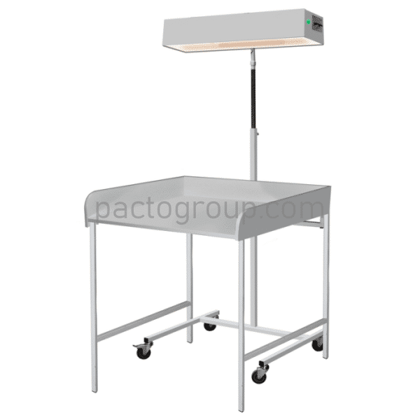 Irradiator for the upper heating of infant LVO-02 with changing table