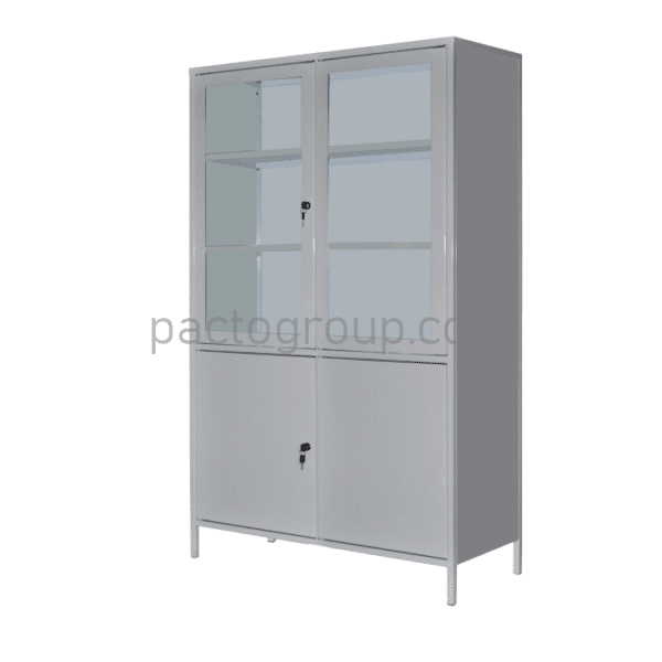 Bivalve medical cabinet with safe SHМ-2S
