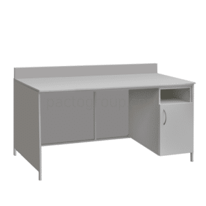 Laboratory table with locking file cabinet SL-001.03