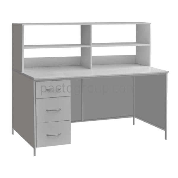 Laboratory table with drawers and upper superstructure SL-001.02.03