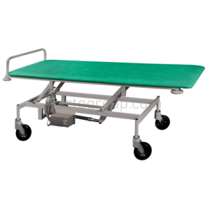 Cart for transportation of the patient with height adjustment electric drive and autonomous power supply ТPBE