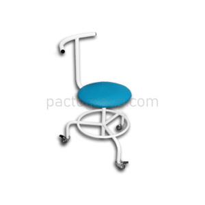 Mobile screw chair with backrest and footrest SVPS