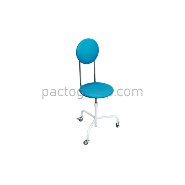 Mobile screw chair with backrest SVS-P