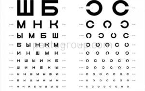 Table for vision testing